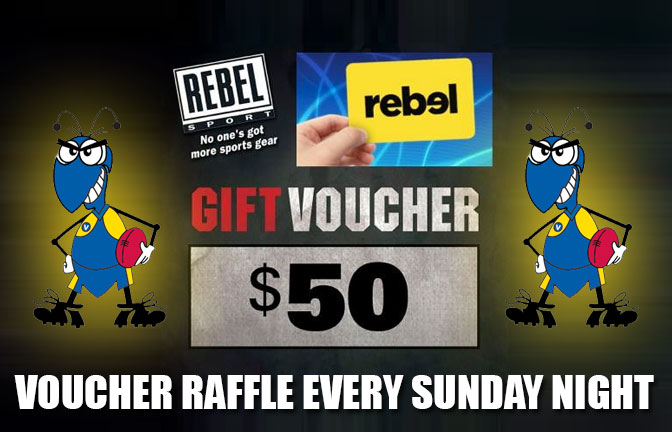 WIN!! Rebel Sports $50 Vouchers on Sunday Nights