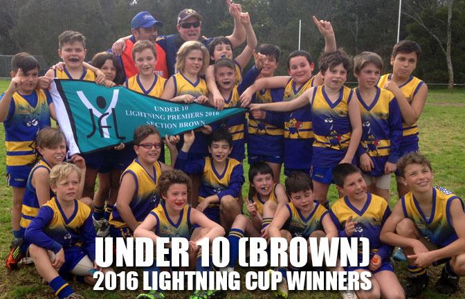 Congratulations to U10 Brown 2016 Lightning Cup Winners!